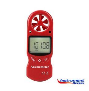 8in1 Environmental Anemometer Temperature Heat Index Pressure Meter +Calibration