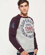 Superdry Hombre Jersey de estilo beisbolero y cuello redondo Trackster Icespacdy