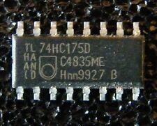 25x 74HC175D Quad D-type flip-flop with reset, Philips