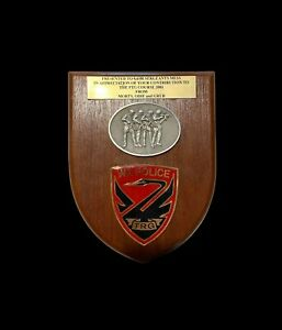 Scarce WA Police TRG plaque presented to the SASR