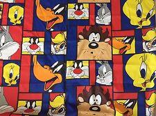 """Looney Tunes FABRIC Tweety Taz Sylvester Daffy Bugs - BY THE YARD -  72"""" W - #i"""