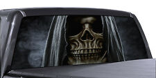 FGD Truck Rear Window Reaper Skull Perforated Vinyl Wrap Universal