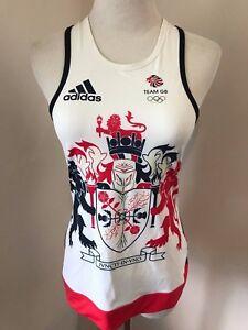 adidas team GREAT BRITAIN UK big lion RIO olympics jersey top shirt tank workout