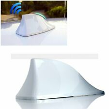 Car Exterior FM/AM Signal ABS Antenna Aerial White Shark Fin Shape with Cable