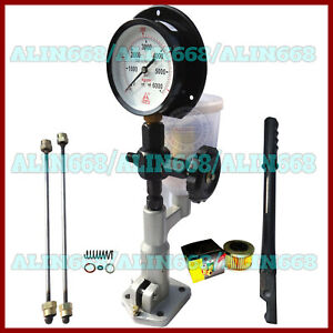 Diesel Injector Nozzle Tester / Pop Pressure Tester - Dual Scale BAR / PSI Gauge