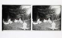 Francia snapshot Amateur Foto Stereo L7n6 Vintage Placca Da Lente