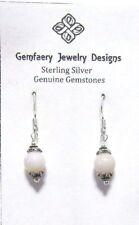 Sterling Silver PERUVIAN OPAL Gemstone Dangle Earrings #2514...Handmade USA