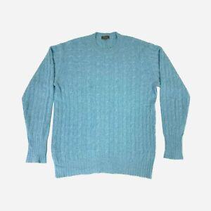 N. Pea,l Cable Knit Cashmere Jumper. Size XL