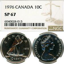 1976 - CANADA - 10 CENTS - NICKEL - 10C - NGC SP 67 - LOW POP=6