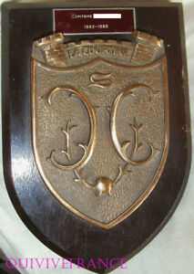 TB655 -  PLAQUE ECU DE  BRONZE CAMP DE LA COURTINE
