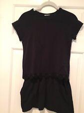 Chole Black Knit Cap Sleeve Dress with Skirt Pockets -  Girl's Size 12 - EUC
