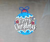 Christmas Bauble Static Cling Window Decoration. Reusable Festive Vinyl Sticker.