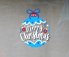 Christmas Bauble Static Cling Window Decoration. Reusable Festive Vinyl Sticker.