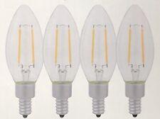 4 x 6W E12 Chandelier LED Filament Candelabra Light Bulb COB Candel Lamp