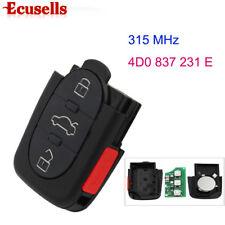 3+1 Button Remote Control Key Fob 315MHZ for Audi A4 A6 4D0 837 231 E