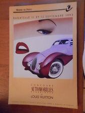 rare affiche RAZZIA automobiles 1993 original louis vuitton
