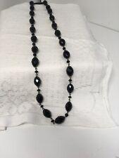 Fashion Jewellery Necklace long Length  black beads