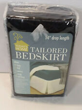 """Todays Home Tailored Bed Skirt Full 54"""" X 75"""" + 14"""" Drop Black"""