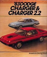 DODGE CHARGER & Caricabatteria 2.2 1983 USA Opuscolo Vendite sul mercato