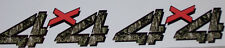 4X4 #4 2 color mossy oak Camo Red Bed Decals decal Chevy GMC 1500 2500 3500 Ram