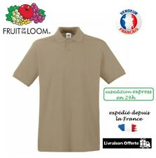 New Fruit of the Loom FOTL Premium Polo Shirt Haut Man Homme / Sable sand S