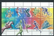 AUSTRALIA 2000 OLYMPIC SPORTS SHEET OF 10 FINE USED