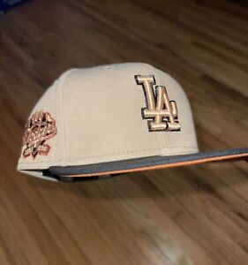 New Era Los Angeles Dodgers 59fifty 100th Anniversary Patch Camel Pack 7 3/8