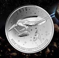 2016 Canada $20 Star Trek Enterprise 1/4oz Silver coin $20for$20