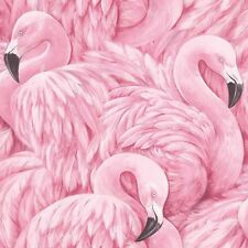 Rasch Modern Pink Flamingo Bird Feather Feature Wallpaper 277890