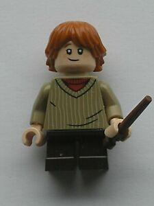 LEGO Harry Potter Minifig Ron Weasley Dark Tan Sweater Ref hp142 Set 75968 75953