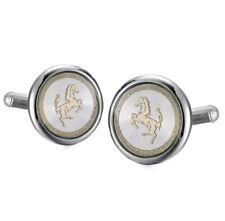 Silver white Gold Ferrari Horse Cufflinks Formal Business Wedding Shirt Suit