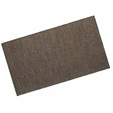 Homescapes Modern Small Jute Rug Black and Natural Diamond Geometric Aztec 60 Cm