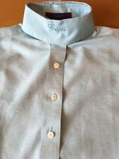 Essex Coolmax Coolmax Heather Blue/teal Girl's Size 10 Show Shirt With Collar