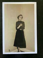 Odd ... Woman Smoking Cigarette in corner ... Vintage Photo c1950s -4x6  Print
