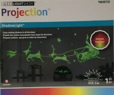 LED Light Show Santa Reindeer Christmas Holiday Projection Multicolor NEW