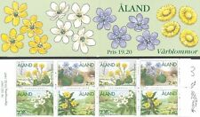 Aland Finland 1997 MNH Complete Booklet - Spring Flowers - Wood Anemone Hepatica