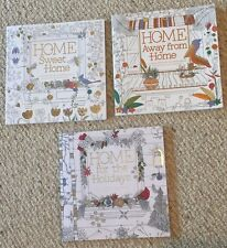 Lot Of 3 New Home Sweet Home Holiday Garden Floral Adult Coloring Books BN Grown