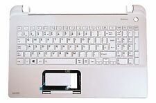 New Toshiba Satellite L50-B L50D-B Palmrest Cover UK Keyboard White A000300940