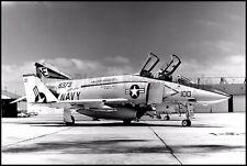USN F-4 Phantom VF-154 Black Knights NAS Miramar 1973 8x12 Photos