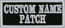 "10 Custom Embroidery 4/"" x 2/"" Name Tag 2 LINES Patch Motorcycle Biker #011"