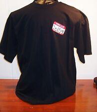 Black Name Tag Hello I'm Drunk Las Vegas Mens Short Sleeve Cotton T-Shirt XL