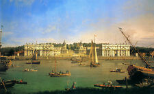 "CANALETTO : GREENWICH HOSPITAL FROM THE NORTH BANK OF THAMES : 24"" CANVAS PRINT"
