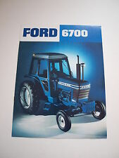 Ford 6700 Tractor w/ Cab Color Brochure 8 pg. original vintage '76 MINT