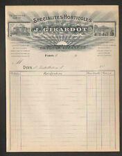 "PARIS (XII°) MATERIELS HORTICOLE / SERRES JARDINS VERANDAS ""J. GIRARDOT"" 1900"