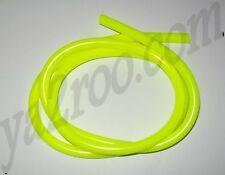 durite essence jaune fluo 5mm pour montage 6mm x 1 mètre cyclo moto scooter quad