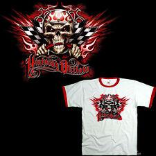 * Racing Speed V8 Hotrod Rockabilly Skull Tuning  T-Shirt *4270