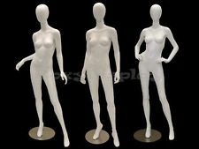 3 Pcs Group Female Fiberglass Egg Head Mannequins Display #Md-A2-3-4W2-S Group
