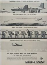 1948 American Airlines Planes DC-6 Flagship Vintage Wall Art Poster Print Ad