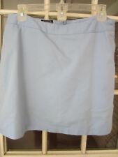 ladies Adidas athletic light blue golf skirt skort w/shorts back zip size 8