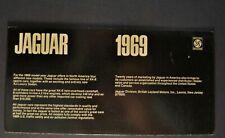 1969 Jaguar Brochure XK-EType Coupe 2+2 Roadster XJ Sedan Excellent Original 69